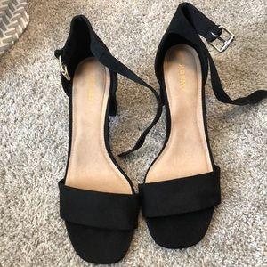 Old navy open toe block heels